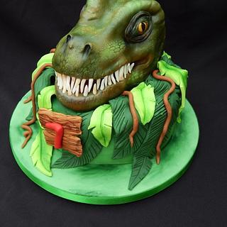 3D T-Rex Cake
