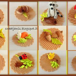 Autumn cupcakes toppers