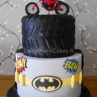 Batman and Dirt bike themed cake