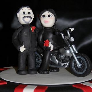 """Biker"" Wedding Cake"