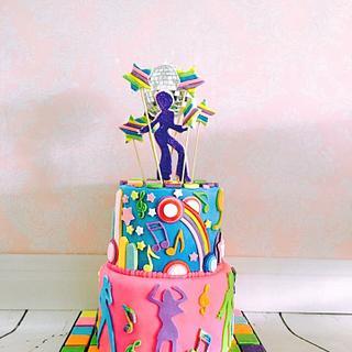 Disco Dancin' - Cake by Tiers of joy