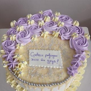 Whipped cream cake - Cake by LanaLand
