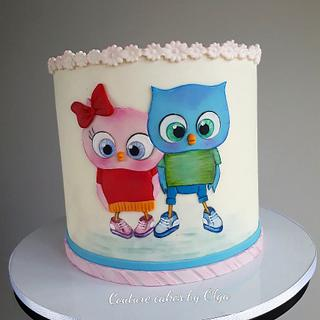Cake for siblings - Cake by Couture cakes by Olga