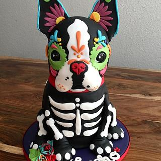 Day of the Dead Boston Terrier