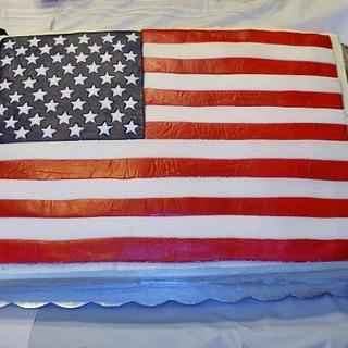 US Flag - Cake by Terri Coleman