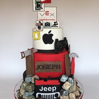 Favorite Things 16th Birthday Cake