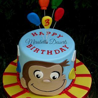 Curious George birthday cake - Cake by Mira - Mirabella Desserts