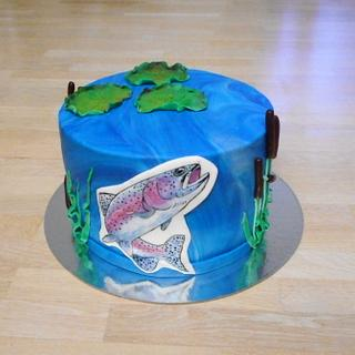 Fish inspiration cake