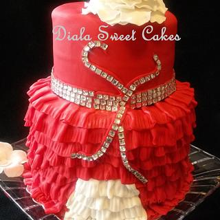 Love in Red  - Cake by DialaSweetCakes