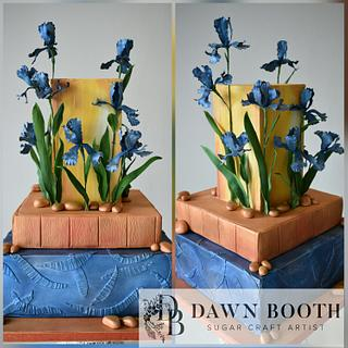Van Gogh themed wedding cake - Cake by Dawn Booth Sugarcraft Artist