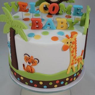 Jungle Baby Shower - Cake by Kake Krumbs