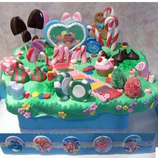 Candyland Centerpiece - Cake by Cheryl