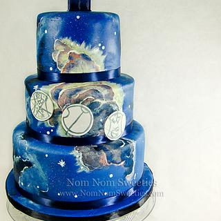 Painted Doctor Who Wedding