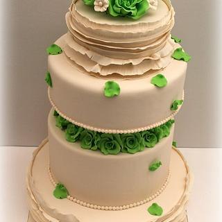 ....Ruffles Wedding Cake...