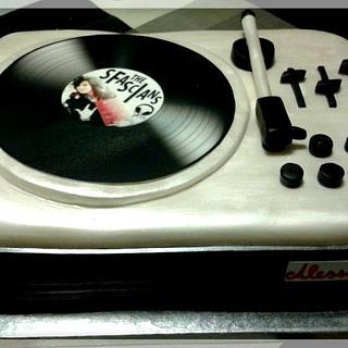 """Record Player"" Cake"