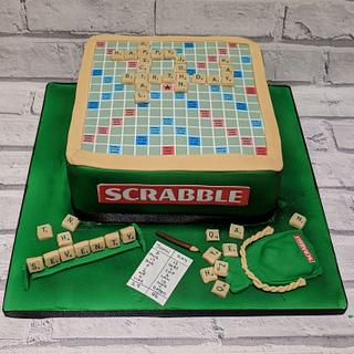 Scrabble lovers cake