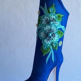 Blue Sugar boot - Cake by Antonio Balbuena
