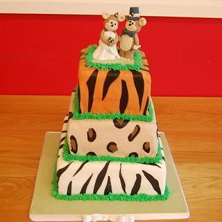 Animal Print Wedding Cake