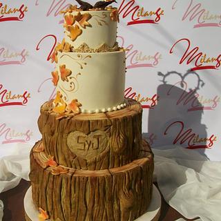 """AUTUMNAL WEDDING CAKE"""