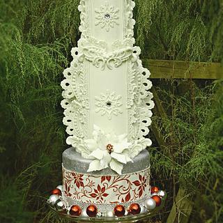 Holiday 2016 Themed Wedding Cake