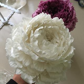 Making Sugar peonies