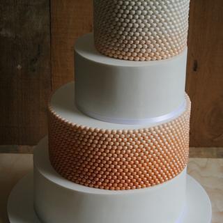 Ombre Beads Wedding Cake