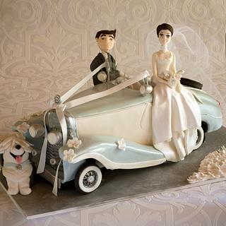 Vintage Car Wedding Cake.
