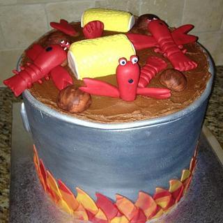 Crawfish boil cake