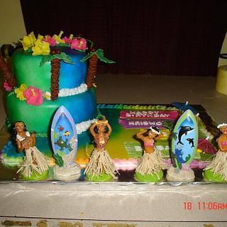 Hawaiian Birthday Cake - Cake by Dana