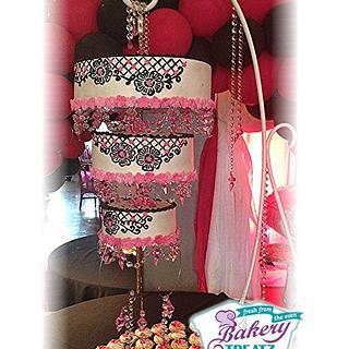 hanging wedding crystal cake