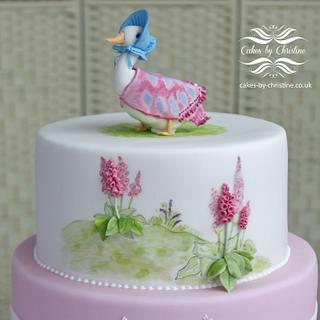 Jemima Puddleduck Christening cake