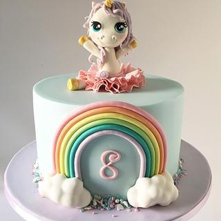 Unicorn Ballerina Cake