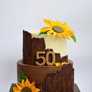 Rustic Sunflower cake