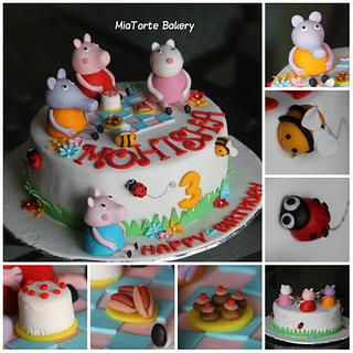 peppa pig themed birthday cake - Cake by MiaTorte Cakes, Hyderabad