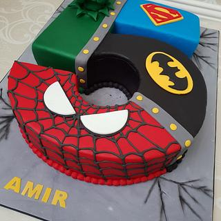 Justice league themed cake