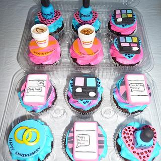 Girly Cupcake Toppers - Cake by Laurie