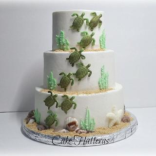 Sea Turtle Wedding Cake