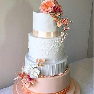 Wedding in apricot