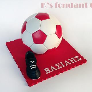 Olympiakos Soccer FootBall Cake