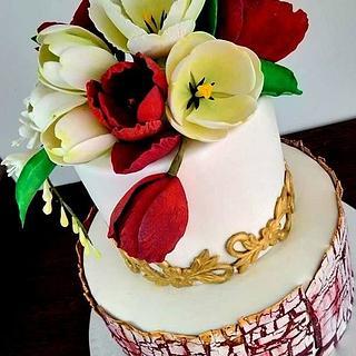 Tulips wedding cake - Cake by Nicoleta