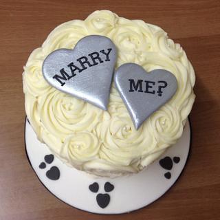 Proposal Cake!