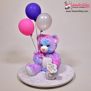 Colourful 3D Teddy Bear Cake
