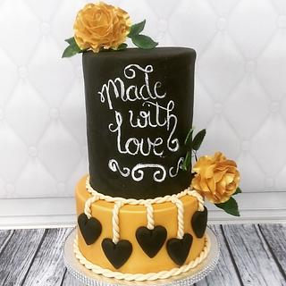 Rustic wedding theme cake