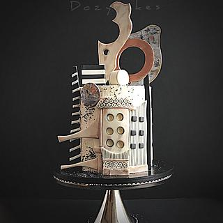 Abstract Architectural Cake