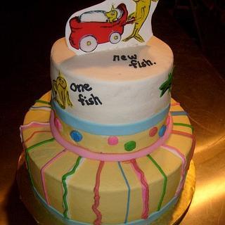 Seuss Baby Shower - Cake by Pamela