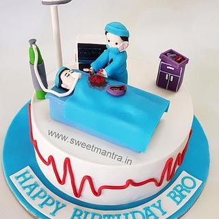 Sensational Doctors Birthday Cake 3 Cakes Cakesdecor Funny Birthday Cards Online Chimdamsfinfo