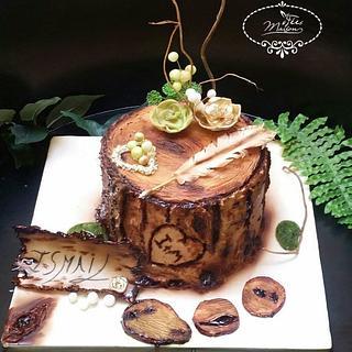 Cake Tree trunk