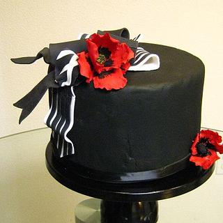 Gumpaste Ribbon Cake