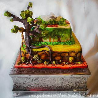 Concept Art Cake - Cake by Jennifer's Edible Creations