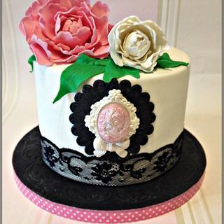Peony Cake - Cake by nectarcupcakes